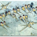Swallows. Frances Browne. Artist.