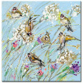 Painting by artist Frances Browne. Gold Finch.