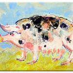 Pigs. Frances Browne. Artist.